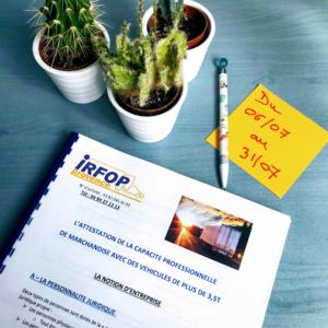 Session préparation examen Lourd de marchandise (Du 6/07/20 au 31/07/20)